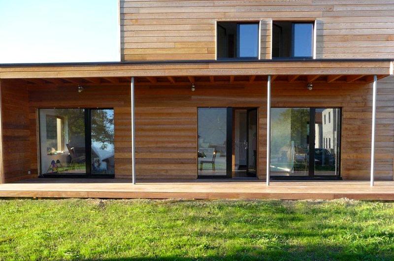 Terrasse bois suspendue  Grenoble  Isère
